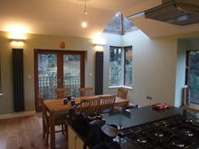 Saltaire – Thorn Glen – Kitchen Dining/Sitting Extension over double garage with views to the oak woodlands (0914)