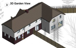 Awkward roof on small semi – with good extension (2054)